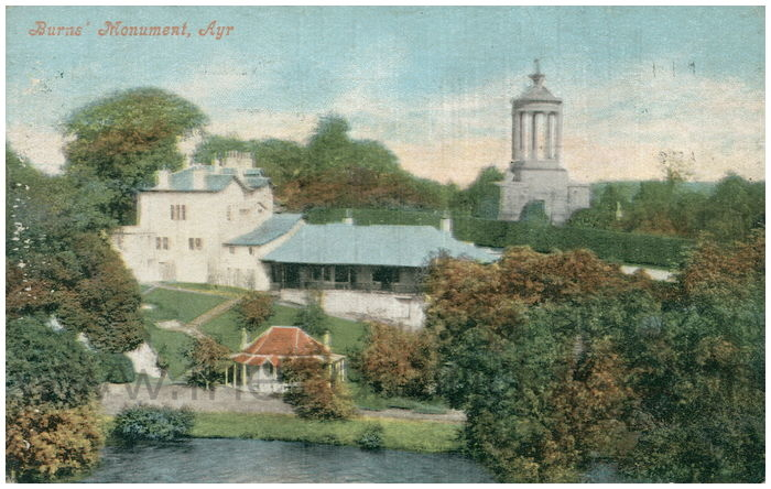 Postcard front: Burns' Monument, Ayr