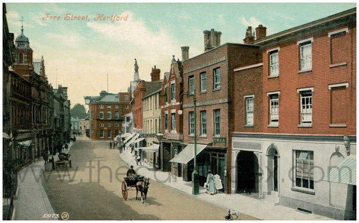 Postcard front: Fore Street, Hertford