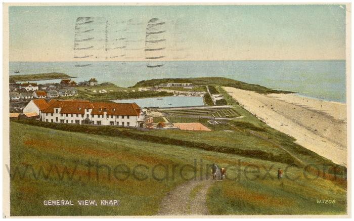 Postcard front: General View, Knap.