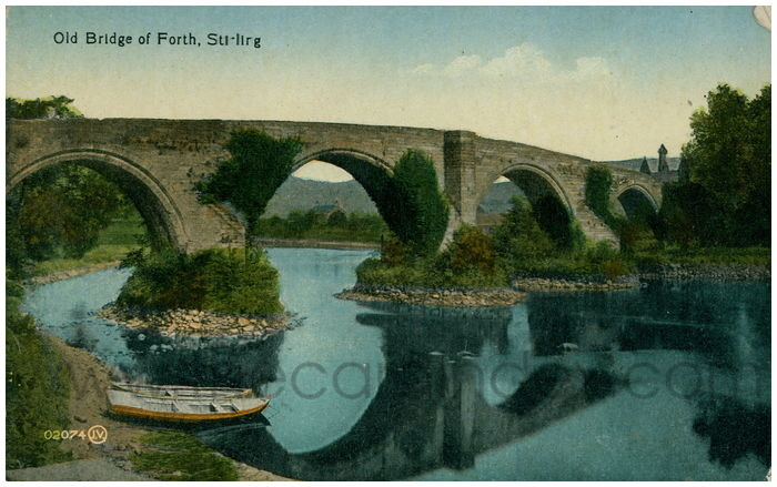Postcard front: Old Bridge of Forth