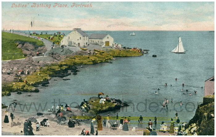 Postcard front: Ladies' Bathing Place, Portrush