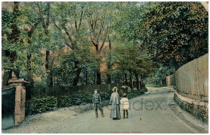 Postcard front: Hayes Lane, Kenley.