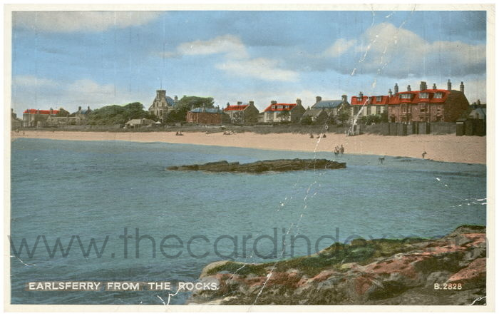 Postcard front: Earlsferry from the Rocks.