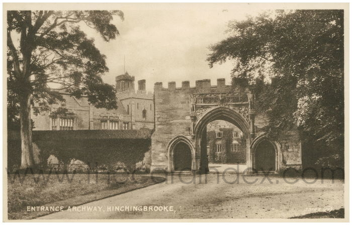 Postcard front: Entrance Archway, Hinchingbrooke