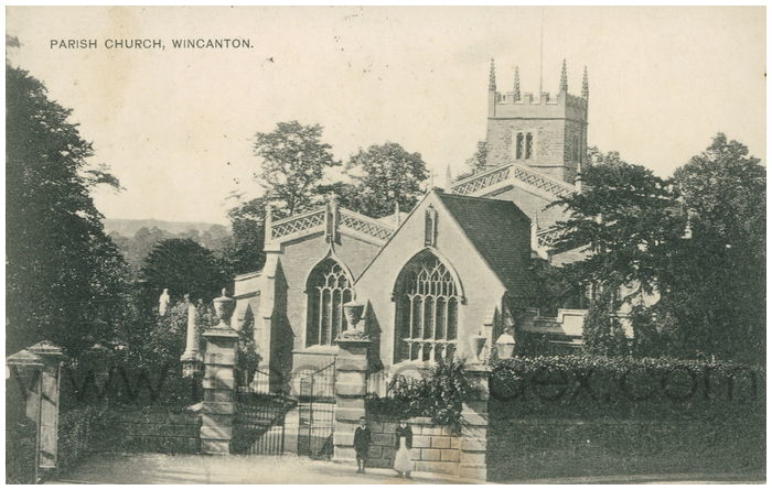 Postcard front: Parish Church, Wincanton.