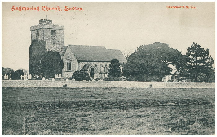 Postcard front: Angmering Church, Sussex.