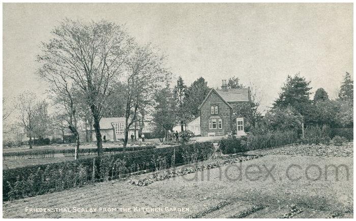Postcard front: Friedensthal Scalby from the Kitchen Garden