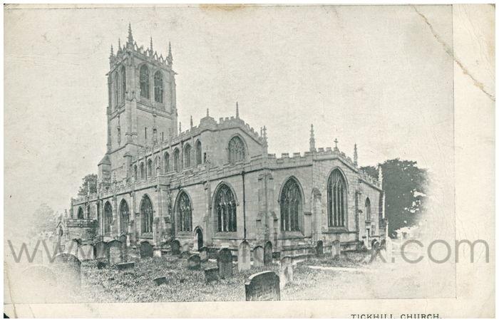Postcard front: Tickhill Church.