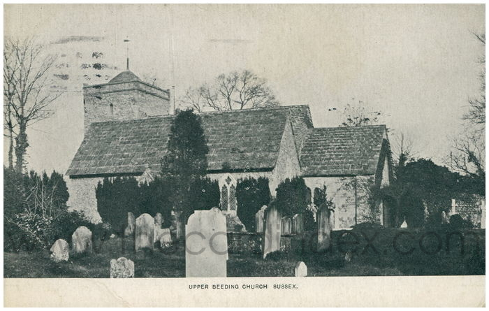 Postcard front: Upper Beeding Church Sussex.