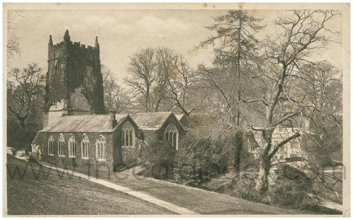 Postcard front: Cockington Church Torquay