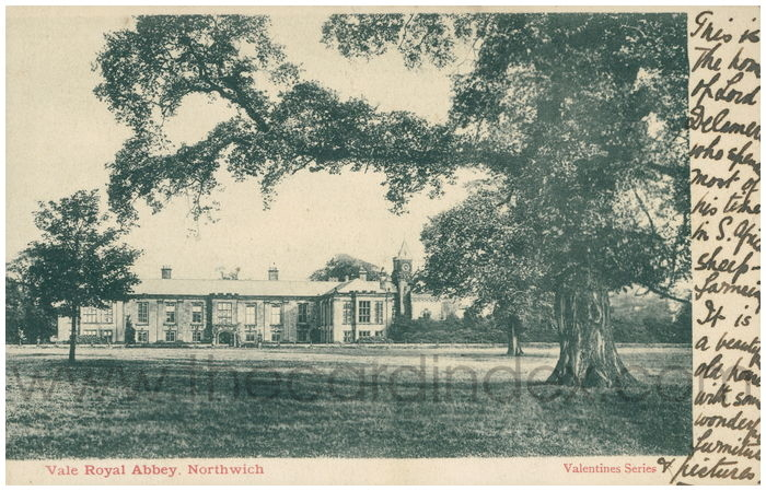 Postcard front: Vale Royal Abbey, Northwich