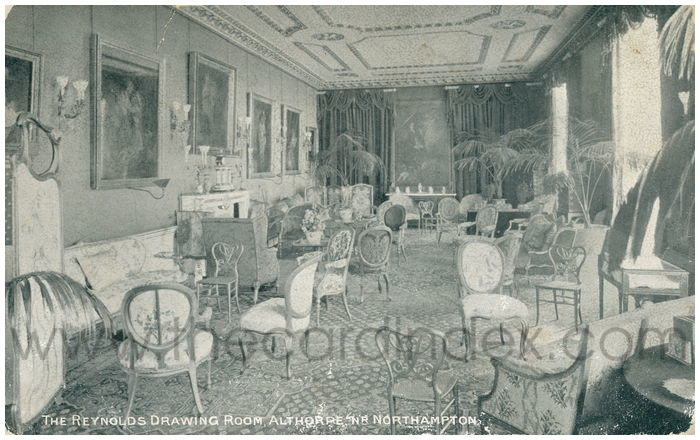 Postcard front: The Reynolds Drawing Room, Althorpe, Nr. Northampton