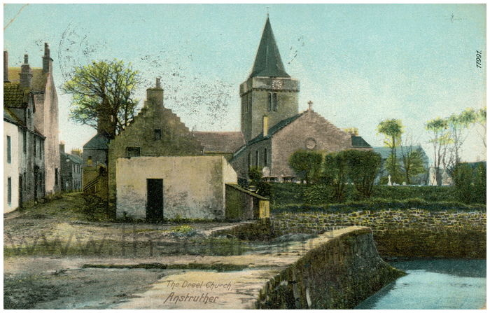 Postcard front: The Dreel Church, Anstruther