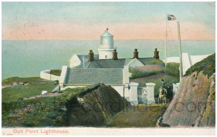 Postcard front: Bull Point Lighthouse