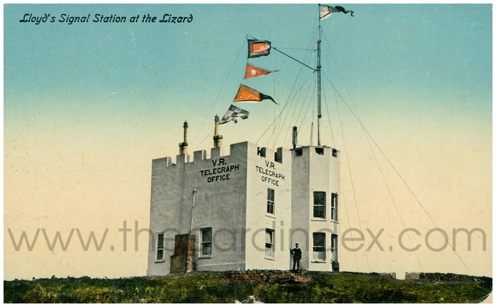 Postcard front: Lloyd's Signal Station at the Lizard
