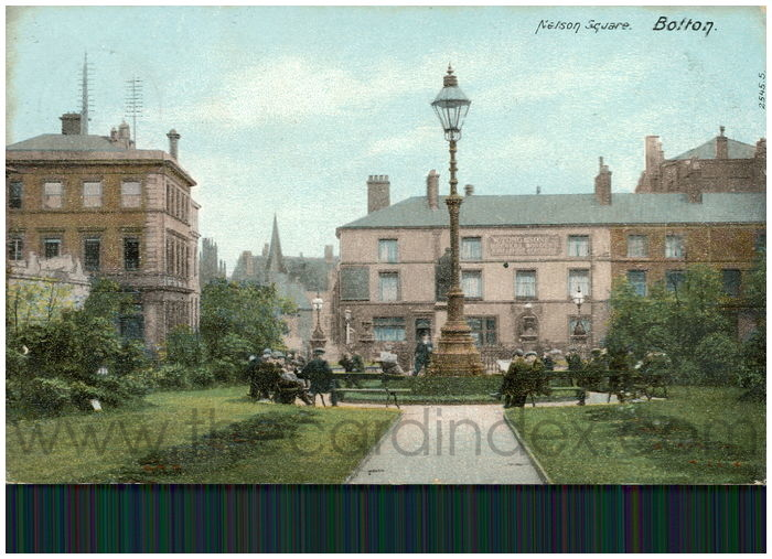 Postcard front: Nelson Square. Bolton.