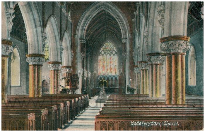 Postcard front: Bodewyddan Church