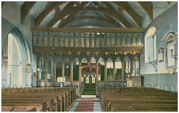 Postcard front: Parish Church, Llanwrst