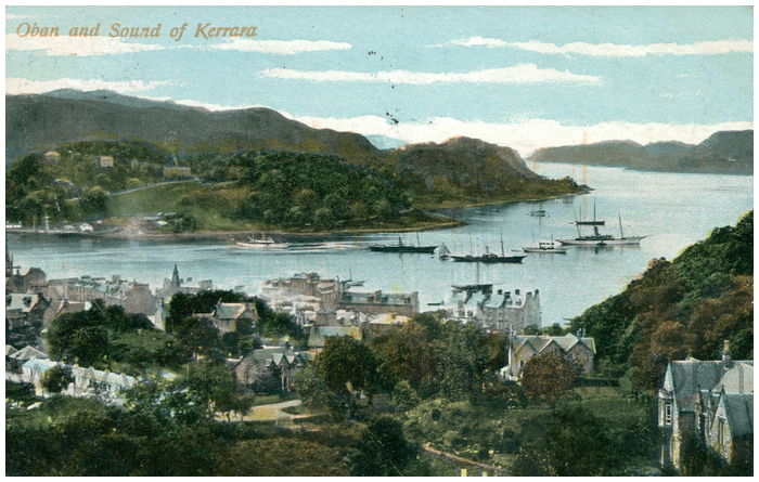 Postcard front: Oban and Sound of Kerrara