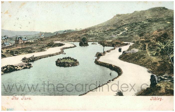 Postcard front: The Tarn. Ilkley.