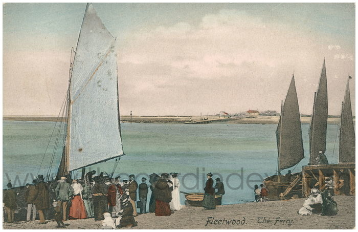 Postcard front: Fleetwood. The Ferry.