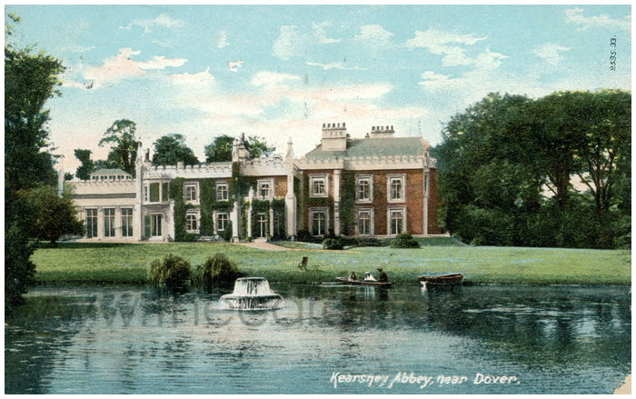 Postcard front: Kearsney Abbey, near Dover.