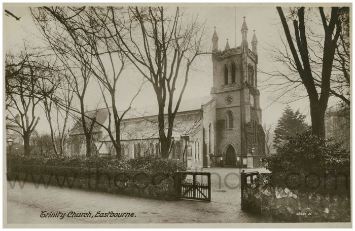 Postcard front: Trinity Church, Eastbourne.