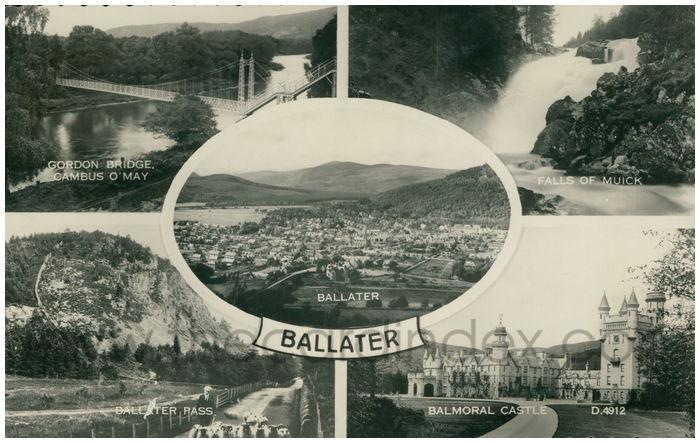 Postcard front: Ballater