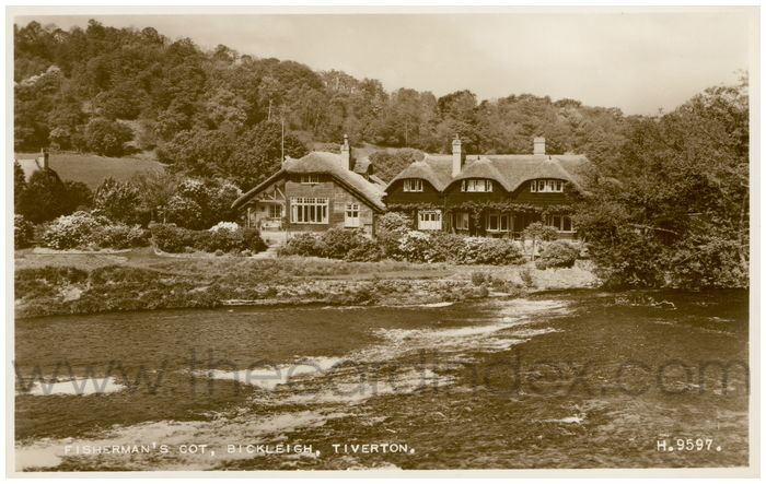 Postcard front: Fisherman's Cot, Bickleigh, Tiverton.