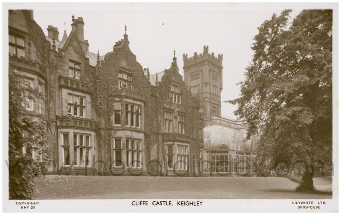 Postcard front: Cliffe Castle. Keighley