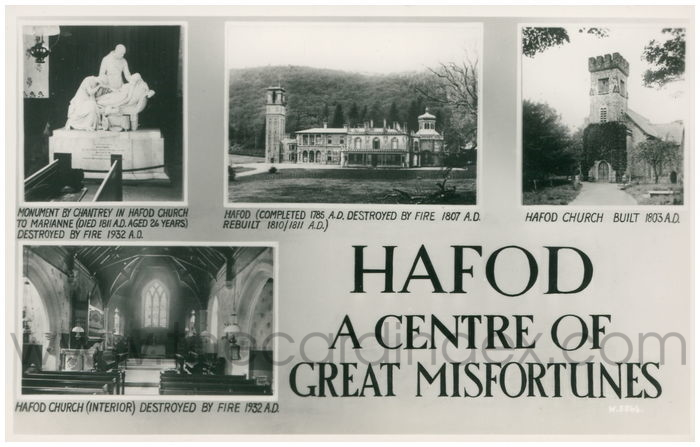 Postcard front: Hafod A Centre of Great Misfortunes