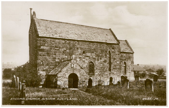 Postcard front: Escomb Church, Bishop Auckland.