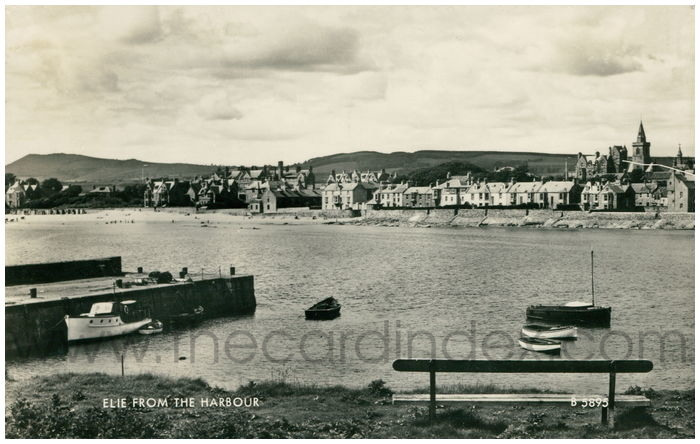 Postcard front: Elie from the Harbour