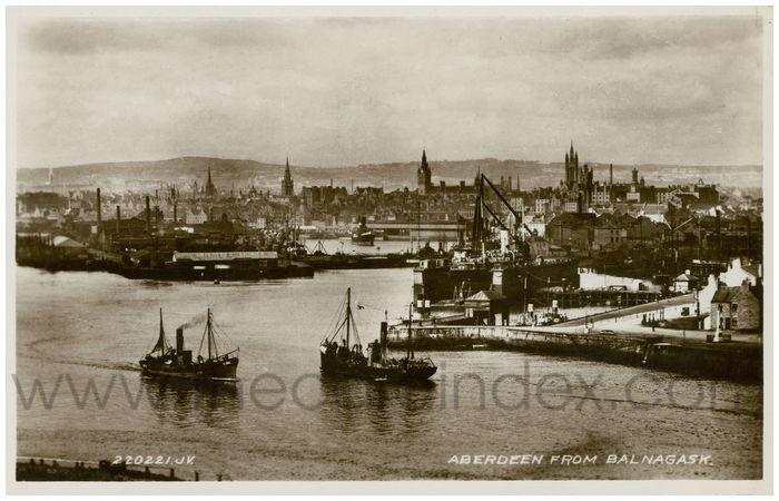 Postcard front: Aberdeen from Balnagask