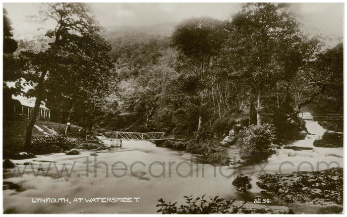 Postcard front: Lynmouth, at Watersmeet.