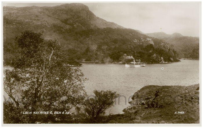 Postcard front: Loch Katrine & Ben A'an