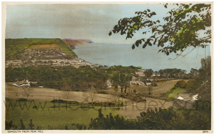 Postcard front: Sidmouth from Peak Hill