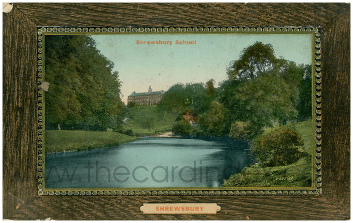 Postcard front: Shrewsbury School Shrewsbury