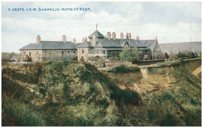 Postcard front: I.O.W. Shanklin: Home of Rest.