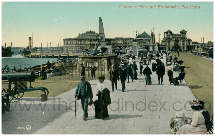 Postcard front: Clarence Pier and Esplanade, Southsea