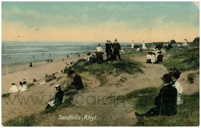 Postcard front: Sandhills, Rhyl
