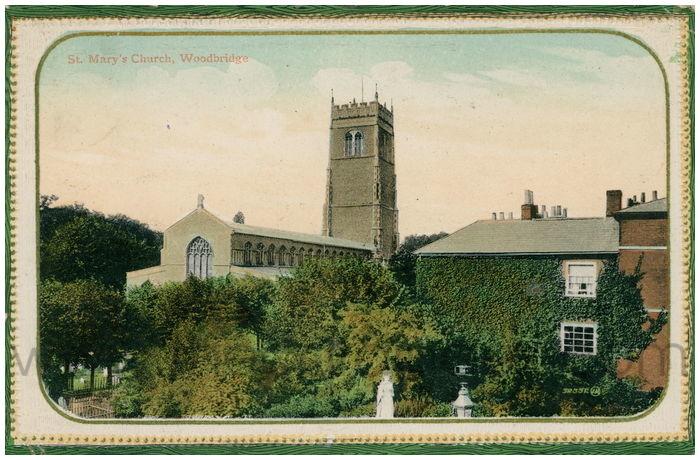 Postcard front: St. Mary's Church, Woodbridge
