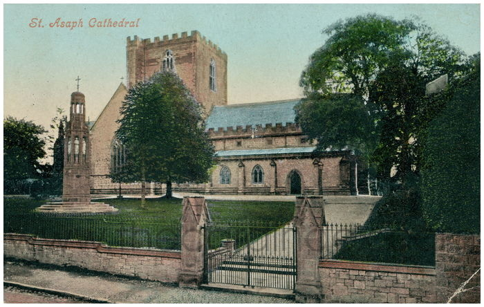 Postcard front: St. Asaph Cathedral