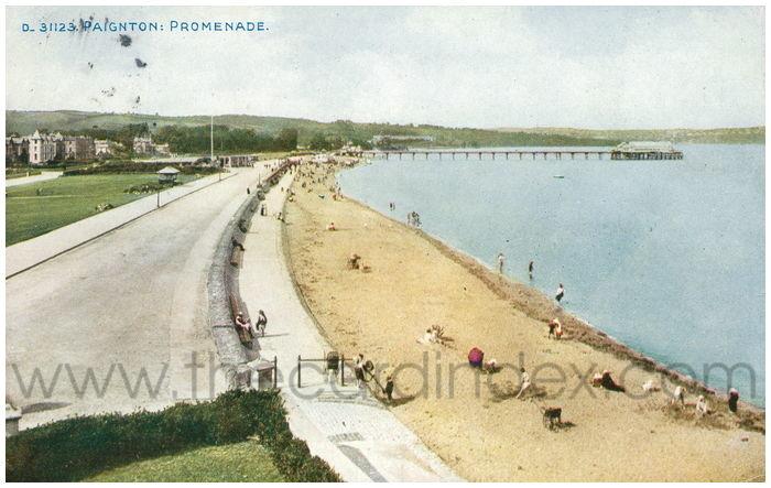 Postcard front: Paignton: Promenade.