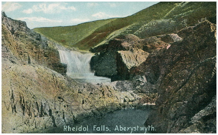 Postcard front: Rheidol Falls, Aberystwyth.