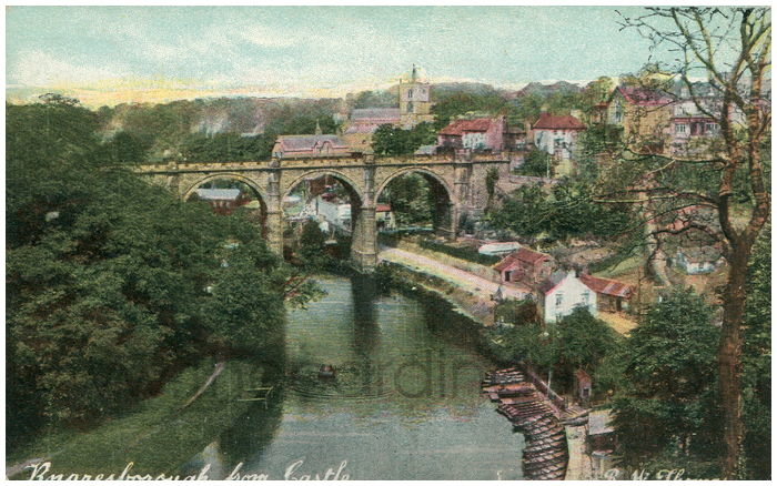 Postcard front: Knaresborough from Castle