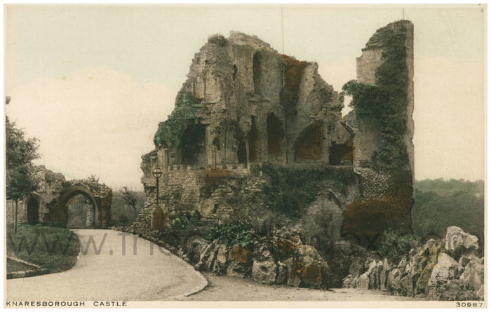 Postcard front: Knaresborough Castle