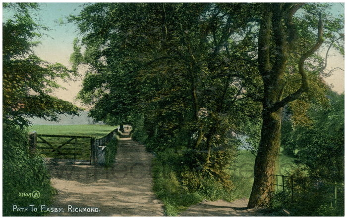 Postcard front: Path to Easby, Richmond.