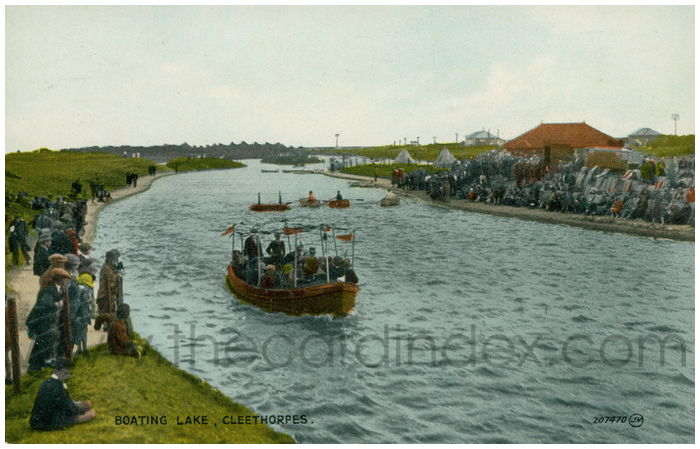 Postcard front: Boating Lake, Cleethorpes.