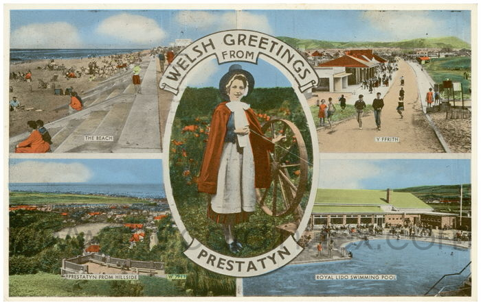 Postcard front: Welsh Greetings from Prestatyn